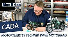 Youtube: Motorisiertes Technik-Motorrad von CaDA @ BlueBrixx