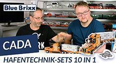 Youtube: Hafentechnik-Sets 10 in 1 von CaDA @ BlueBrixx - mit Sensorsteuerung!