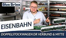 Youtube: DR-Doppelstockwagen-Verbund & Mittelwagen von BlueBrixx