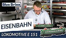 Youtube: Lokomotive E 151 von BlueBrixx