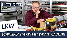 Youtube: Schwerlast-LKW mit Nachläufer + 8-Kant-Ladung von BlueBrixx