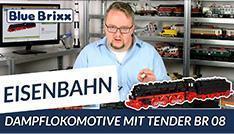 Youtube: Dampflokomotive mit Tender BR 08 von BlueBrixx
