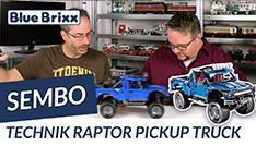 Youtube: Blauer Pickup-Truck Raptor von Sembo @ BlueBrixx