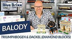 Youtube: Triumphbogen & Dackel von Balody (diamond blocks) @ BlueBrixx