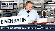 Youtube: Schiebewandwagen & Containerwagen von BlueBrixx