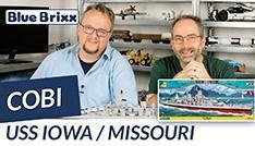 Youtube: USS Iowa / USS Missouri von Cobi @ BlueBrixx