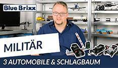 Youtube: Schlagbaum mit Wachhaus & drei Automobile von BlueBrixx