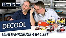 Youtube: Mini-Fahrzeuge 4-in-1-Set von Decool @ BlueBrixx