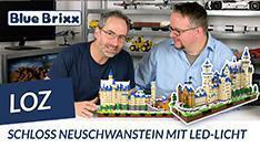 Youtube: Schloss Neuschwanstein von LOZ @ BlueBrixx - 6.800 Teile & LEDs!