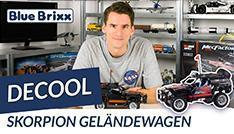 Youtube: Skorpion Geländewagen von Decool @ BlueBrixx - der Held der Steine baut Technic!