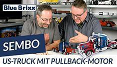 YouTube: US-Truck von Sembo @ BlueBrixx - mit Pullback-Motor!