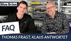 YouTube: BlueBrixx-FAQ Teil 3 - der Held der Steine fragt, Klaus antwortet!