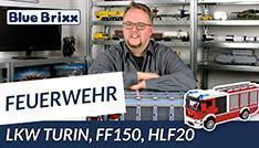 Youtube: Feuerwehrfahrzeug FF150 HLF20 von BlueBrixx