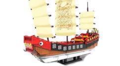 Refft die Segel! Die chinesische Dschunke läuft ein!
