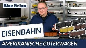 YouTube: 5 Güterwagen amerikanischer Bauart von BlueBrixx - mit neuem Schüttgutwagen!