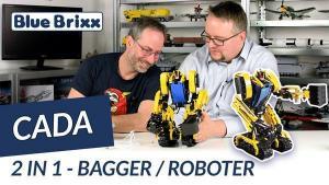 YouTube: Ferngesteuerter Bagger/Roboter von CaDA @ BlueBrixx