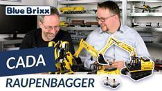 Youtube: Ferngesteuerter Technik-Raupenbagger von CaDA @ BlueBrixx
