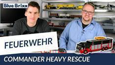 Youtube: Commander Heavy Rescue rot/schwarz von BlueBrixx - gebaut vom Helden der Steine!
