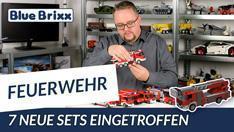 Youtube: Neue Feuerwehrsets von BlueBrixx - gleich 7 Modelle eingetroffen!