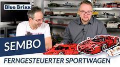 YouTube: Roter Sportwagen von Sembo @ BlueBrixx – mit Fernsteuerung & 5 Motoren!