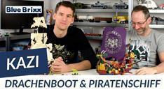 Youtube: Piratenschiff und Drachenboot von Kazi - der Held der Steine setzt die Segel!