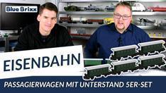 Youtube: Passagierwagen mit Unterstand im 5erset von BlueBrixx - gebaut vom Helden der Steine!