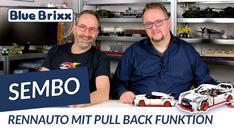 Youtube: Rennauto mit Pullback-Motor von Sembo @ BlueBrixx