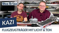Youtube: Flugzeugträger von Kazi @ BlueBrixx - mit Licht und Ton!