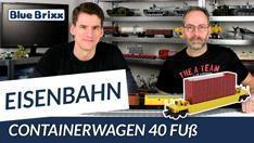 Youtube: Containerwagen 40 Fuß von BlueBrixx - US-Eisenbahn mit dem Helden der Steine!