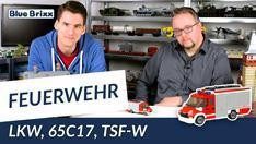 Youtube: Feuerwehrfahrzeug TSF-W von BlueBrixx - mit dem Helden der Steine als Brandinspektor!