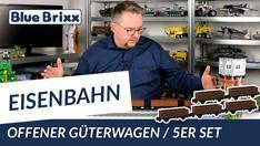 Youtube: Offener Güterwagen Gattung Es im 5er-Set von BlueBrixx