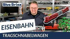 Youtube: Tragschnabelwagen von BlueBrixx - 83 Zentimeter Eisenbahnspaß!