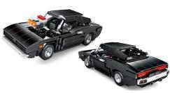 Bald erhältlich:  Muscle Car in schwarz mit Pull-Back Funktion