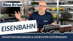 Youtube: Einheitskesselwagen & Gedeckter Güterwagen im 5er-Set von BlueBrixx
