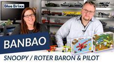 Youtube: Snoopy Roter Baron & Flugzeug mit Pilot von BanBao @ BlueBrixx