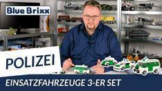 Youtube: Polizei Einsatzfahrzeuge 3er-Set & Stickerbogen von BlueBrixx