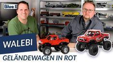 Youtube: Roter Geländewagen von WaLeBi @ BlueBrixx - mit Fernsteuerung und 4-Rad-Lenkung!