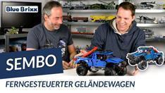 YouTube: Ferngesteuerter Geländewagen in Blau von Sembo @ BlueBrixx