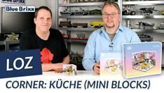 Youtube: Corner - Küche von LOZ aus Mini Blocks @ BlueBrixx