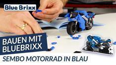 Youtube: Motorrad in blau von Sembo - Bauen mit BlueBrixx