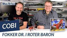 Youtube: Fokker DR. I Roter Baron von Cobi @ BlueBrixx - mit Outtake!
