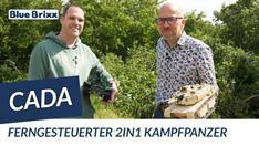 Youtube: Ferngesteuerter 2in1 Kampfpanzer von CaDA @ BlueBrixx - mit Testfahrt im Grünen!