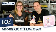 Youtube: Musikbox mit Einhorn aus Diamond Blocks von LOZ @ BlueBrixx