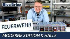 Youtube: Moderne Feuerwehrstation mit Fahrzeughalle von BlueBrixx