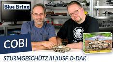 Youtube: Sturmgeschütz III Ausf. D DAK von Cobi @ BlueBrixx