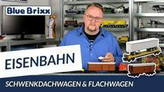 Youtube: Schwenkdachwagen und Flachwagen mit Sattelauflieger von BlueBrixx