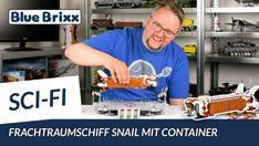 Youtube: Main Base Mars - Frachtraumschiff Snail von BlueBrixx