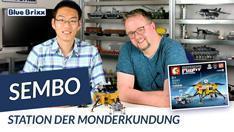 Youtube: Space Flight Station der Monderkundung von Sembo @ BlueBrixx - mit Studiogast!