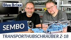 Youtube: Transporthubschrauber Z-18 von Sembo @ BlueBrixx