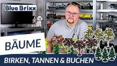 Youtube: Bäume von BlueBrixx - 3 Birken, 3 Tannen und 3 Buchen!